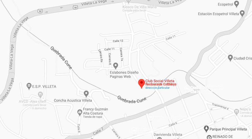 Club Social Catthleya map horizontal